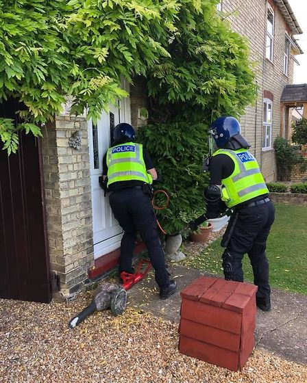 On May 21 officers from the East Cambs neighbourhood team executed a section 23 misuse of drugs warr