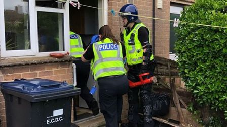 On May 18 East Cambs Neighbourhood Team executed a warrant under section 23 of the misuse of drugs a