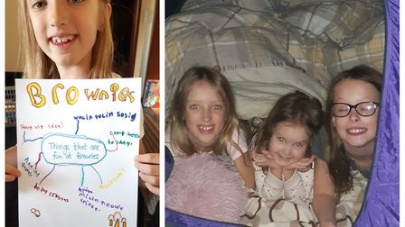 Joanne Isbell and her daughter Rosie (left), as well as her two sisters, have been taking part in di