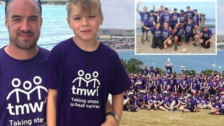 Pictured is Damien Whales. A total of 270 people took part in last year's gruelling three-day Dorset