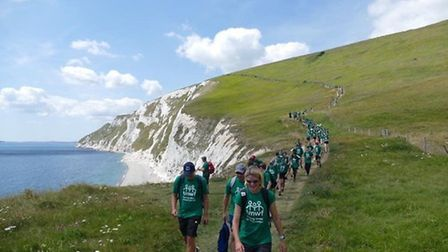 A total of 270 people took part in last year's gruelling three-day Dorset trek in aid of Cambs-based