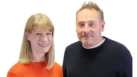 BBC Radio Cambridgeshire breakfast show host Kev Lawrence and co-presenter Dotty McCloud. Picture; B