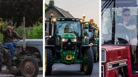 Final night of the NHS clap for heroes in the Fens as tractor drivers came together for one last, en