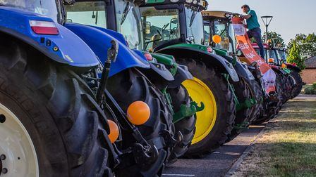 It was all about tractors on the final night of the NHS clap for heroes in this part of the Fens. We