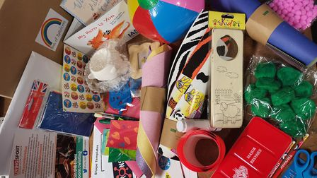 Hundreds of DIY rainbow kits have been sent to children across Fenland during lockdown. Picture: CCO