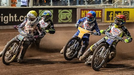 Danny Ayres (far left) in the Sports Insure British Final 2019. Picture: IAN CHARLES