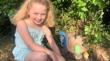 Nature lovers have been making their own art creations in the Peacocks Meadow Woodland Garden in Lit