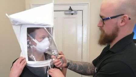 Ben Winterbone is able to train people who then go on to train others in fitting face masks, which a