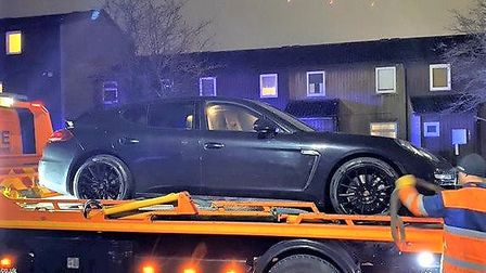 A man caught driving a supercar with no insurance and a fake licence has been handed a suspended sen