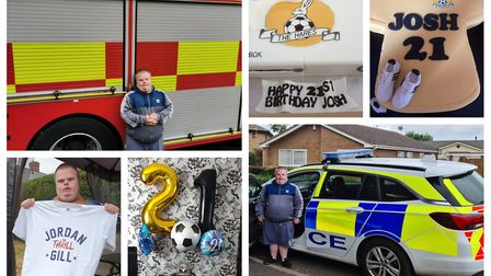 Joshua Harvey was inundated with birthday cards and gifts to celebrate his 21st birthday, as well as