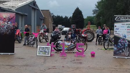 Friends, families and fans geared up their bikes to remember speedway star Danny Ayres. Picture: JON