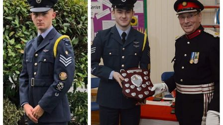 Rory Donoghue (left) from the 1094 Ely Squadron Royal Air Force Air Cadets has been promoted to cad