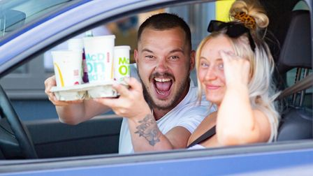 These were the happy customers at McDonalds in Peterborough last month when it re-opened. Will custo