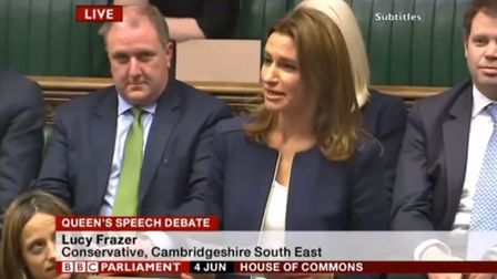 Lucy Frazer pictured on BBC Parliament speaking in the House of Commons in 2015.