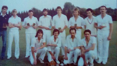 Aythorpe Roding with the Dewar Cup in 1980