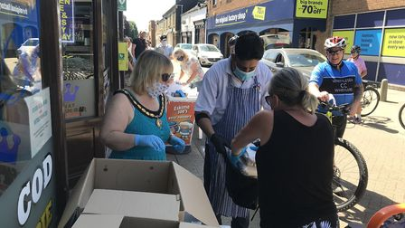 More than 200 chippy teas sent out to the elderly and most vulnerable in Whittlesey on May 29. Pictu