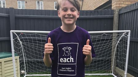 George Chipperfield is raising money for East Anglia's Children''s Hospices