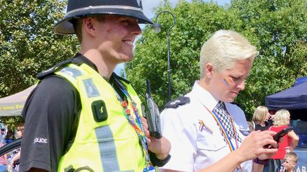 Police in Cambridgeshire have shown their support for the county's LGBTQ+ community for Pride Month.