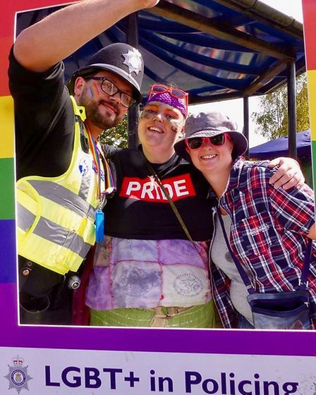 Police in Cambridgeshire have shown their support for the county?s LGBTQ+ community for Pride Month.