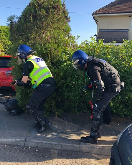 Police raided homes in Littleport on June 9 and discovered cannabis and a knife. No arrests were mad