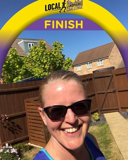 Annette Shipton took on a local landmarks challenge where she completed a half marathon in and aroun