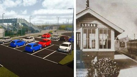 The future vision of Soham rail station compared to what it used to be like. Picture: ARCHANT
