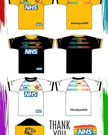 Ely Tigers Rugby Club have launched a range of t-shirts in tribute to the NHS after player Stacy Mou