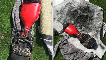 This hoverboard overheated while charging and caused a fire inside a Cambridgeshire home on Monday,