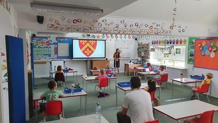 Reception, year 1 and year 6 pupils were the first year groups to return. Picture: Felsted School