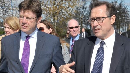 Secretary of State for Communities and Local Government Greg Clark MP. Visit to Wisbech. Left: Greg