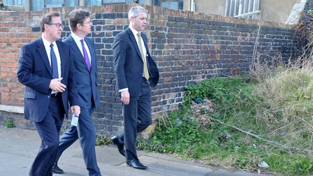Secretary of State for Communities and Local Government Greg Clark MP. Visit to Wisbech. Left: Gary