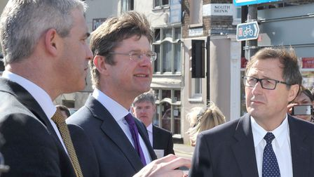 Secretary of State for Communities and Local Government Greg Clark MP. Visit to Wisbech. Left; Steve