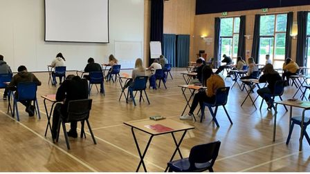 'Y10 in full flow - I am impressed with their focus and determination' photograph posted to Twitter