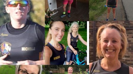 Three Counties Running Club members competed in teams alongside March Athletic Club to complete the