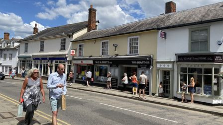 More shops reopened on Monday, June 15 as more people could be seen on Great Dunmow's sunny streets.