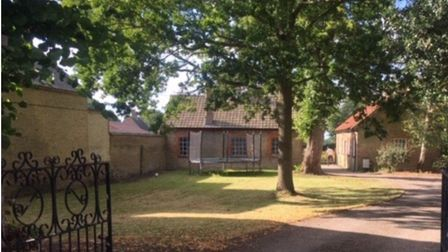 Site North of the Rectory in Little Downham where Ely Diocese has submitted plans for five homes to