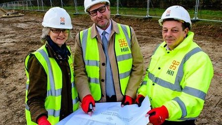 Mayor James Palmer (centre) said there is an urgent need for the affordable homes scheme to work acr