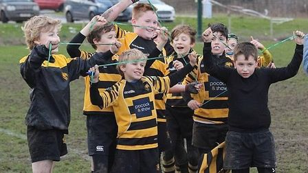 Players from the minis section at Ely Tigers will each receive a ball to show for their hard work th