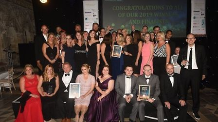 The winners and finalists of the 2019 East Cambridgeshire Ely Standard Business Awards. Picture: IAN
