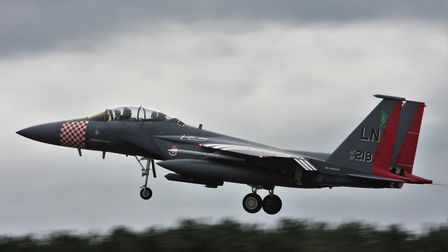 F15 similar to that crashed into the North Sea today. Picture; STEVE WELLS