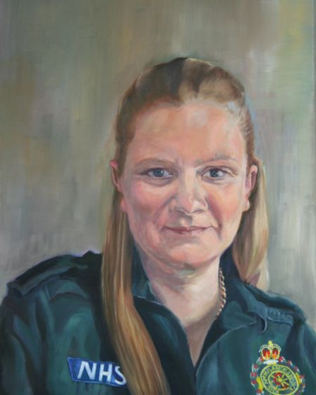 Little Ouse artist Caroline Forward has painted three stunning NHS hero portraits free of charge ami