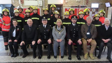 One event that may be one of Cllr Julie Windle's most memorable moments as mayor of Whittlesey is th