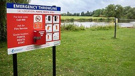 Throwline stations are being installed across Cambridgeshire this month, with some already installed