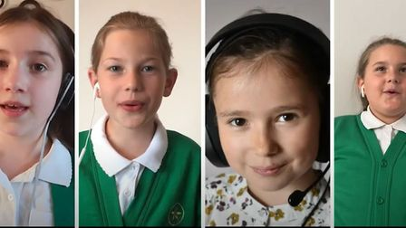 Choir pupils at Ely St John's primary school performed Let Love Shine Through. Picture: Supplied/Sha
