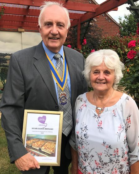 Richard Hunt with his wife from the Rotary Club of Whittlesey. Picture: ROBERT WINDLE