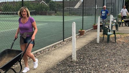 Chatteris Tennis Club have been getting creative since returning to action after the coronavirus loc