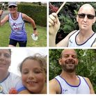 Members of Fenland Running Club covered hundreds of miles and were armed with batons as part of a vi