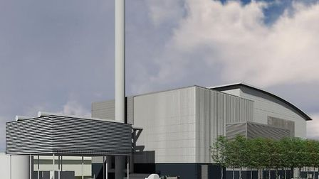 Visualisation produced by Amey showing how their energy from waste incinerator would have looked at