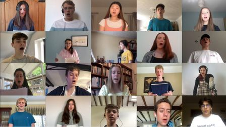 Around 60 pupils from King's Ely have joined forces to record a virtual tribute to NHS heroes amid t