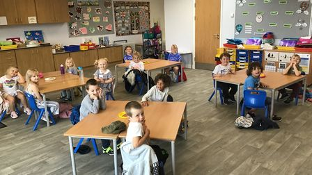 Pupils at Felsted Primary have a new building since lockdown. Picture: FELSTED PRIMARY